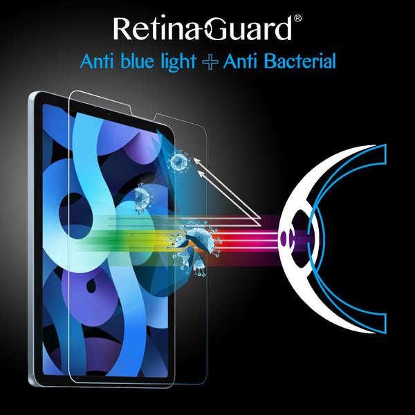 Antibacterial & Anti Blue light Tempered Glass Screen Protector - iPad Air 4