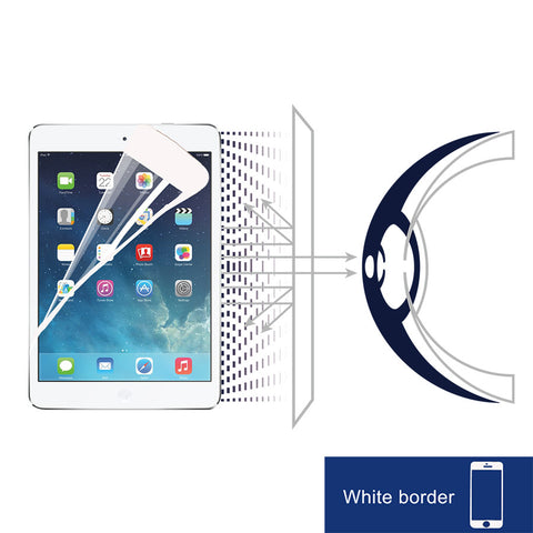 Anti-Blue light screen protector (White Border) - iPad Air - RetinaGuard Store - Anti-Blue Light Screen Protectors for iPhone 7, 7 Plus, 6s, 6s Plus, iPads and Macbooks