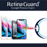 RetinaGuard Anti blue light tempered glass screen protectors for iPhone 11 / 11 Pro / 11 Pro Max / X / iPhone Xs / iPhone Xs Max / iPhone XR / iPhone 8 / iPhone 8 Plus / iPhone 7 / iPhone 7 plus /  iPhone 6s / iPhone 6s plus / 5s / SE