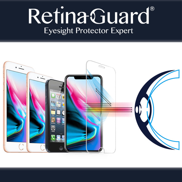 RetinaGuard Anti blue light tempered glass screen protectors for iPhone X / iPhone Xs / iPhone Xs Max / iPhone XR / iPhone 8 / iPhone 8 Plus / iPhone 7 / iPhone 7 plus /  iPhone 6s / iPhone 6s plus / 5s / SE