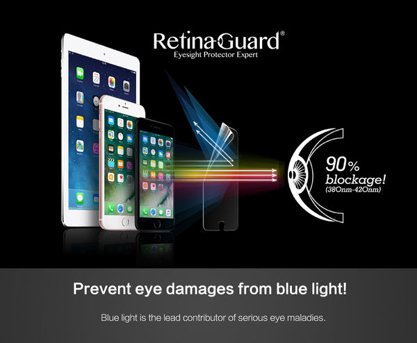 Anti Blue Light Screen Protector for iPhone 7 Plus (White Border)