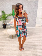 Janica Dress (Fitted) - Fun Floral (Only XS available 34