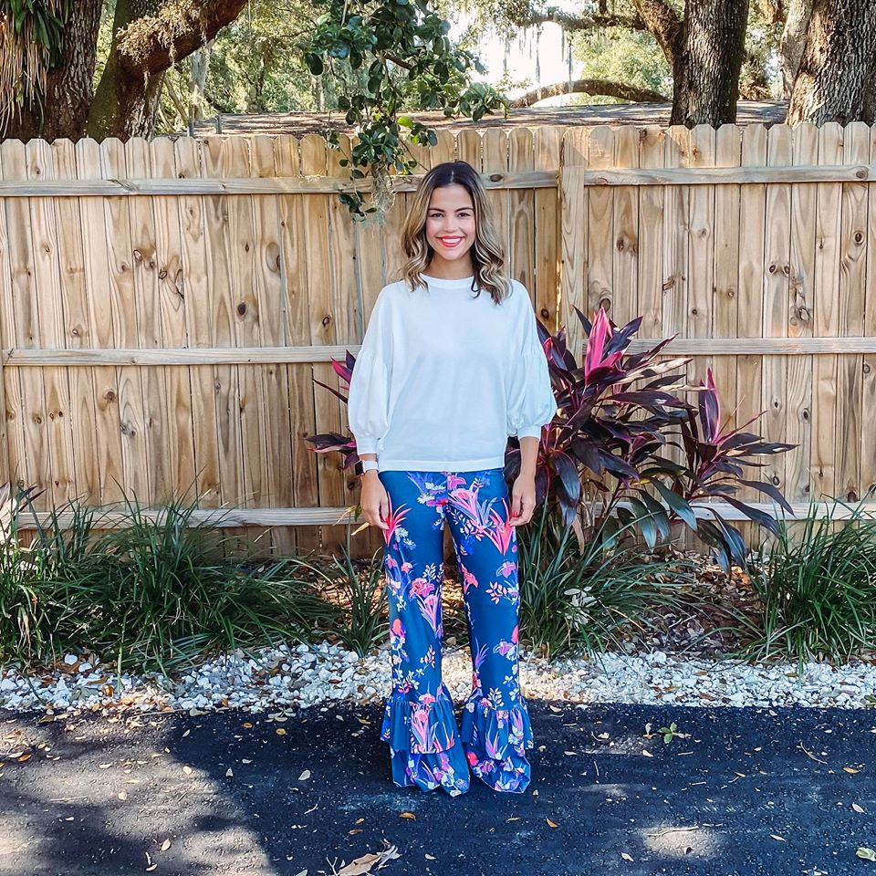 Midnight Bloom - Myla Pants