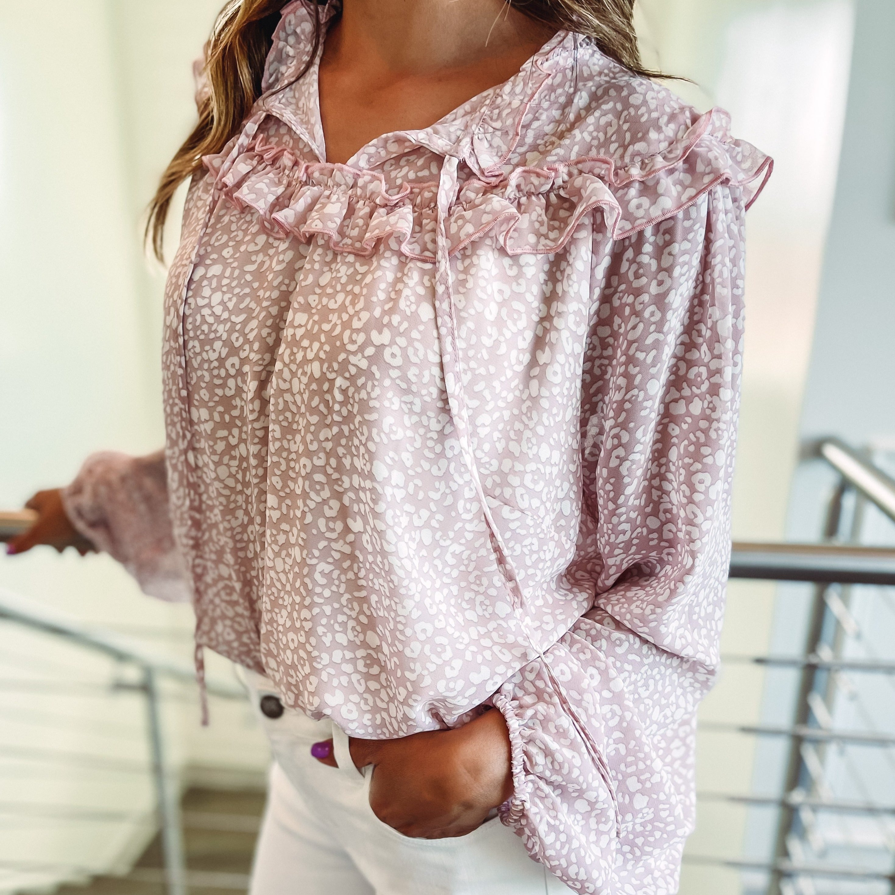 Ryder Blouse - Dusty Pink