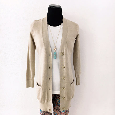 Jada Button Down Boyfriend Cardigan