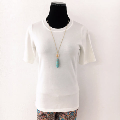 Grace Sweater Blouse - Off White