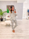 Jaylie Lounge Set - Grey Animal Print