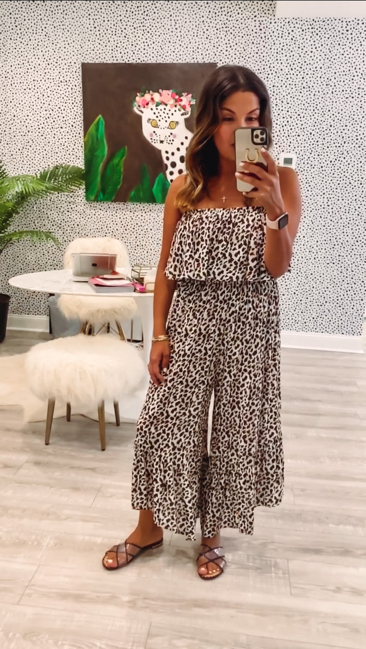Sage Jumpsuit - Brown Leopard