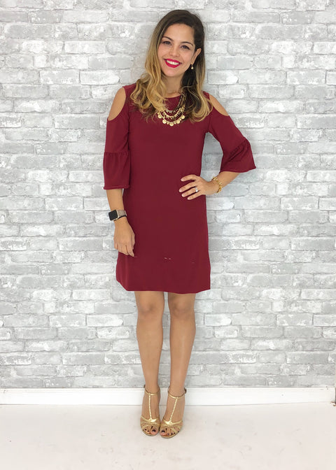XXS Alina Dress - Burgundy