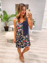 Carmen Dress - Floral Festival Blue