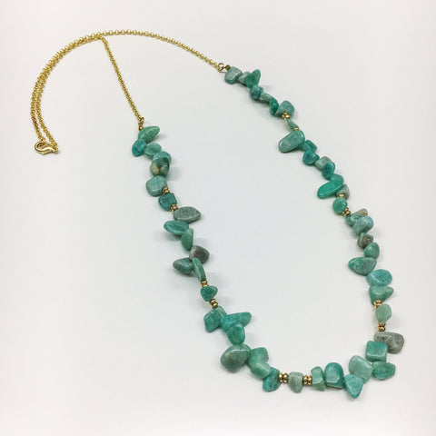 Aquamarine Stone Layering Necklace