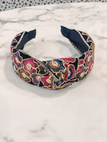 Catty HeadBand - Multi Embroidered