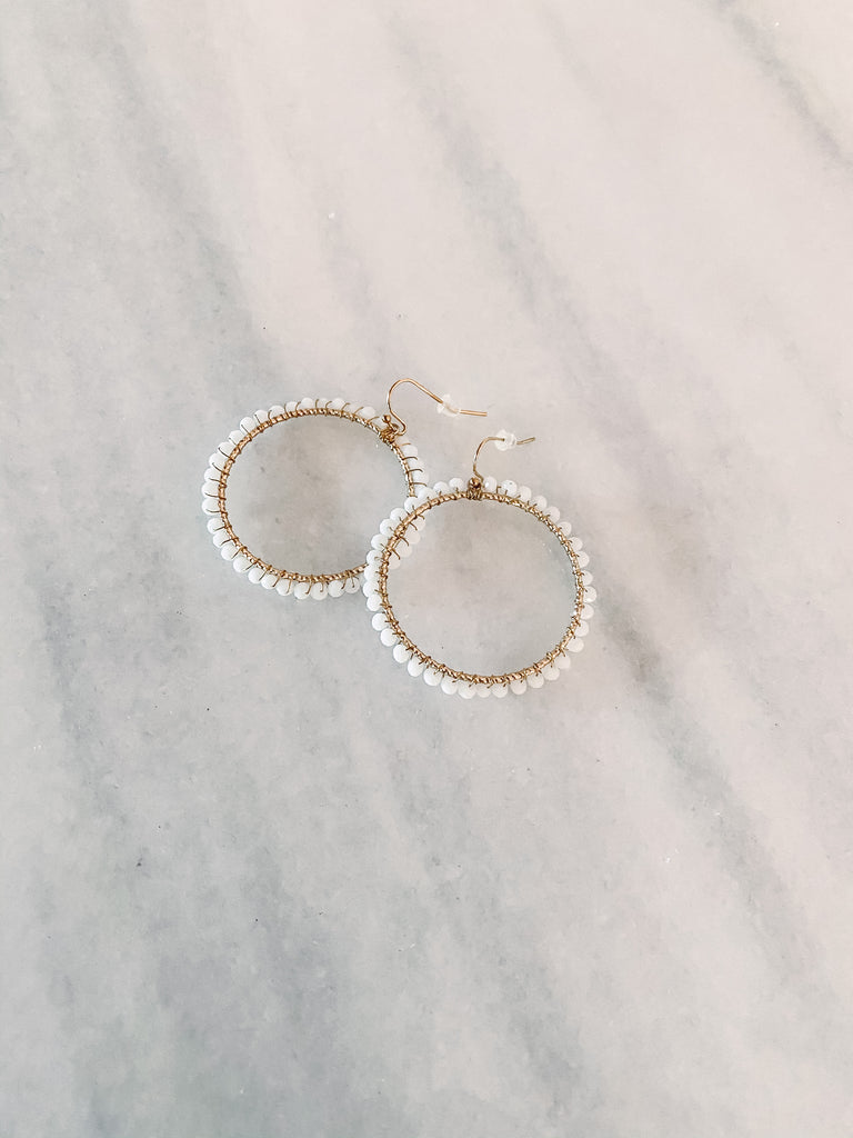 Hoop Earrings - White