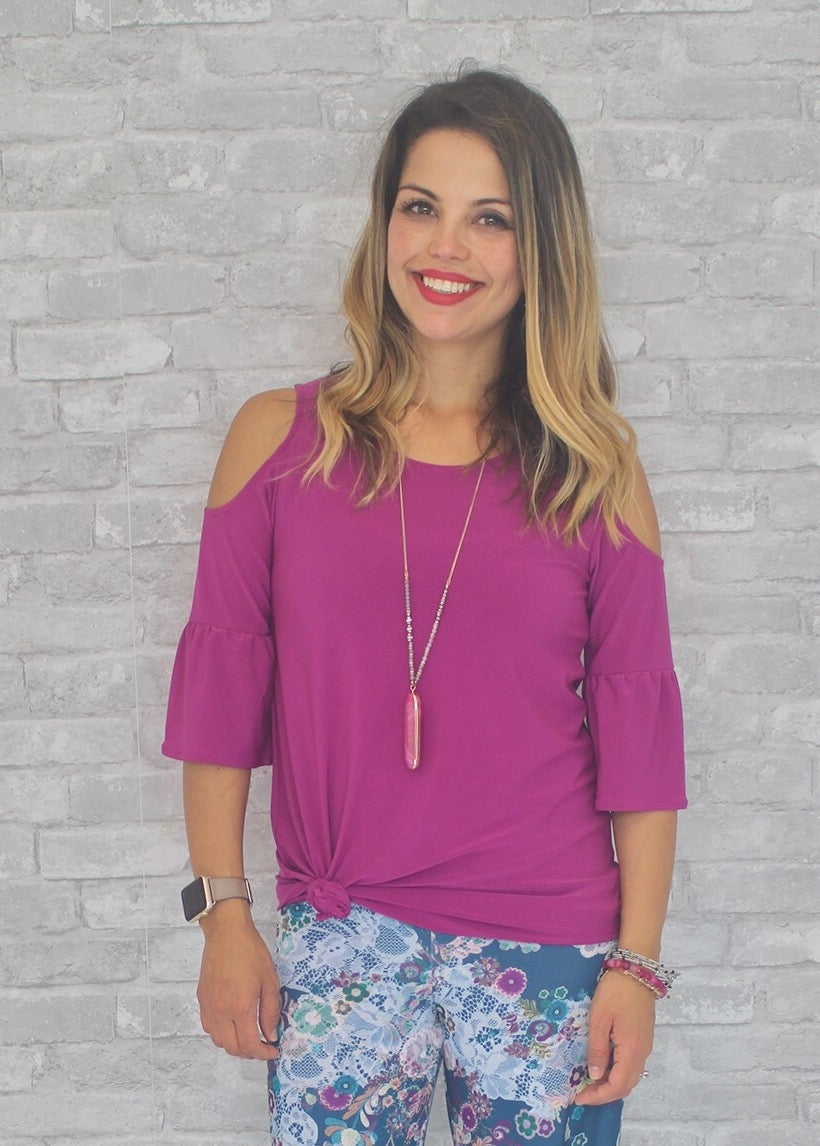 Marcy Blouse - Magenta