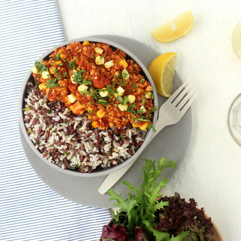 Lunch 4th August (Thursday) - Vegetarian House Special Chili with Avocado and Wild Rice
