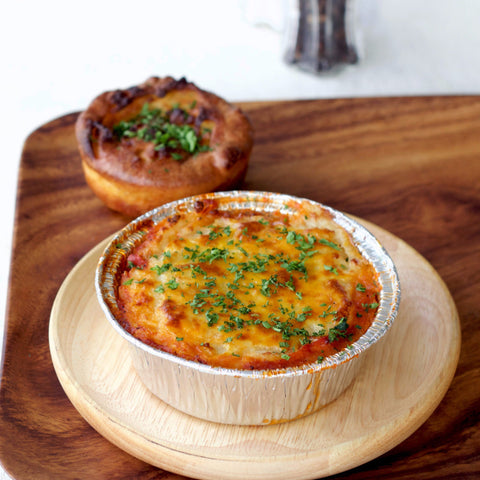 "Lunch 2nd August (Tuesday) - Vegetarian ""Shepherd's Pie"" with Yorkshire Pudding"