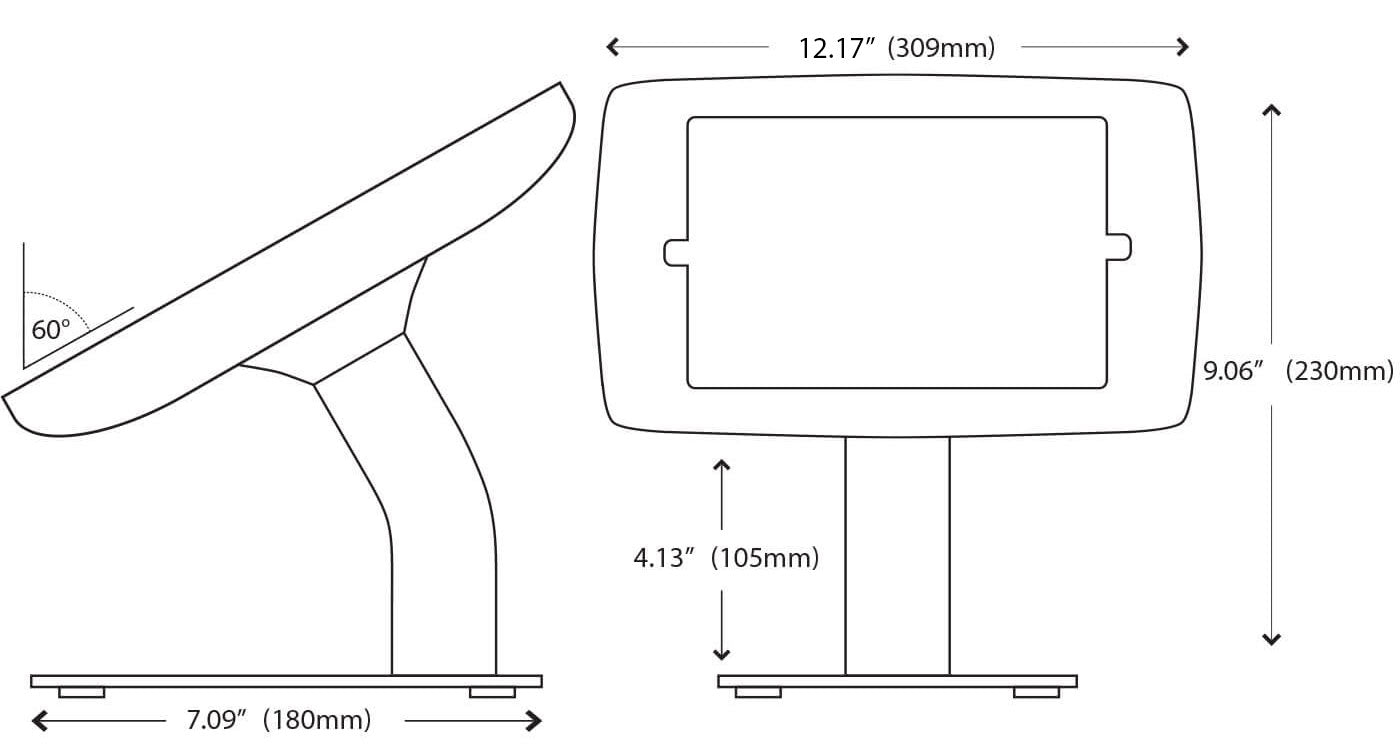 Fusion Free Standing Tablet Stand Dimensions