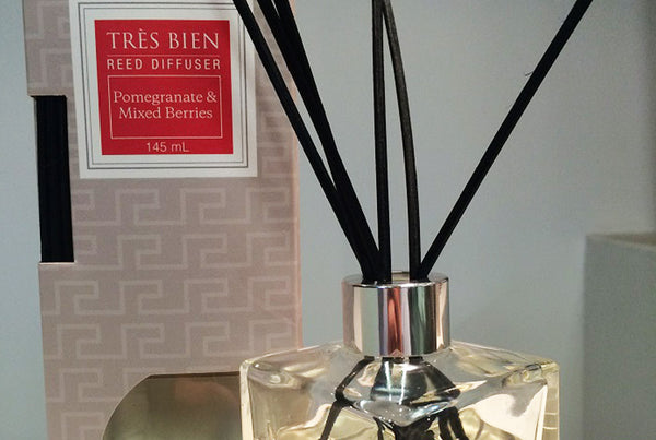 Black Reed Diffuser Home/Office – Pomegranate & Mixed Berries Fragrance