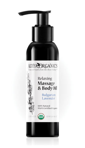 Relaxing Massage and Body Oil Bulgarian Lavender - Avani Organics
