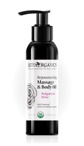 Rejuvenating Massage and Body Oil Bulgarian Rose - Avani Organics
