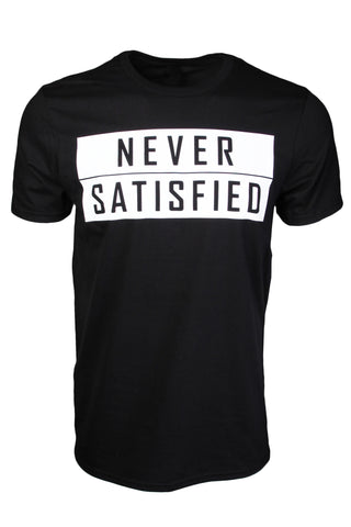 Never Satisfied Block T-Shirt