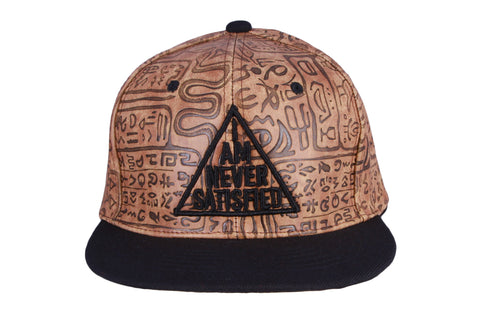 I Am Never Satisfied Hieroglyphs Snapback