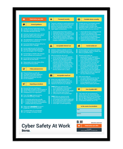(Refill) 1x Cyber Security Guidance Poster