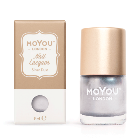 MoYou London - Silver Dust MN001 לק חותמות