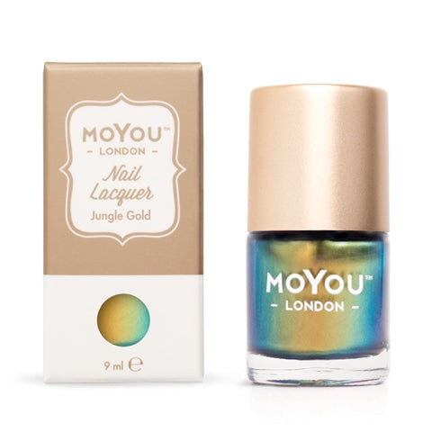 MoYou London -   Jungle Gold MN003 לק חותמות