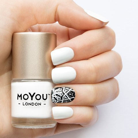 MoYou London - White Knight MN014 לק חותמות