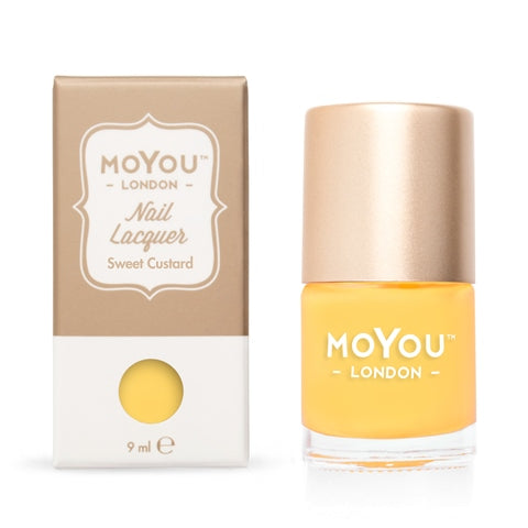 MoYou London -   Sweet Custard MN076 לק חותמות