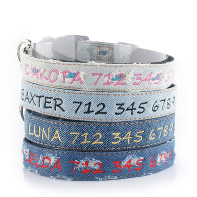 Denim Style - Personalized Dog Collar