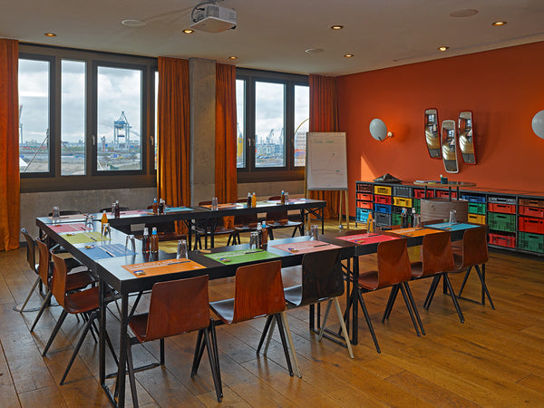 Our workshop room at the 25 hours hotel in Hamburg, Germany