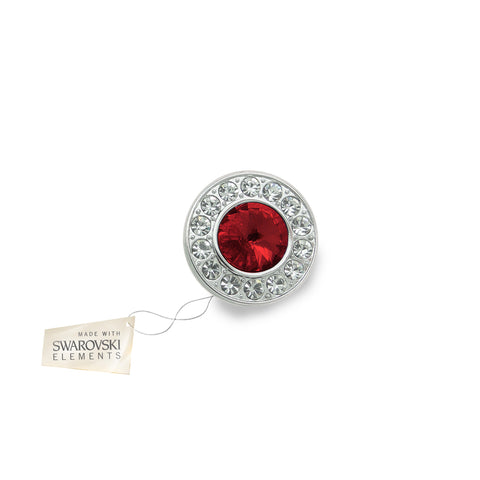 Crystal Disc Flower Red Ruby made with Swarovski® crystals