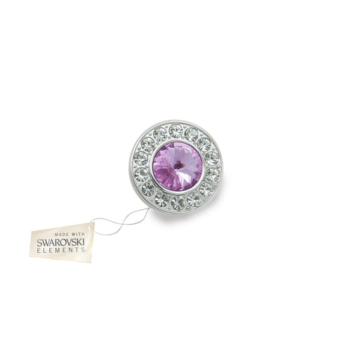 Crystal Disc Flower Violet made with Swarovski® crystals