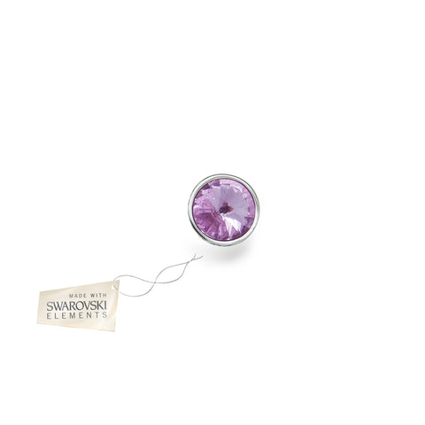 Crystal Disc Violet made with Swarovski® crystals