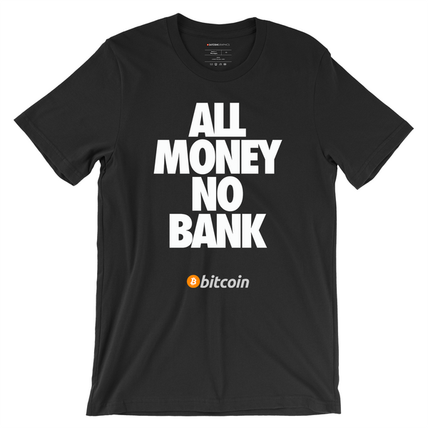 All Money Bank Black Bitcoin T-Shirt