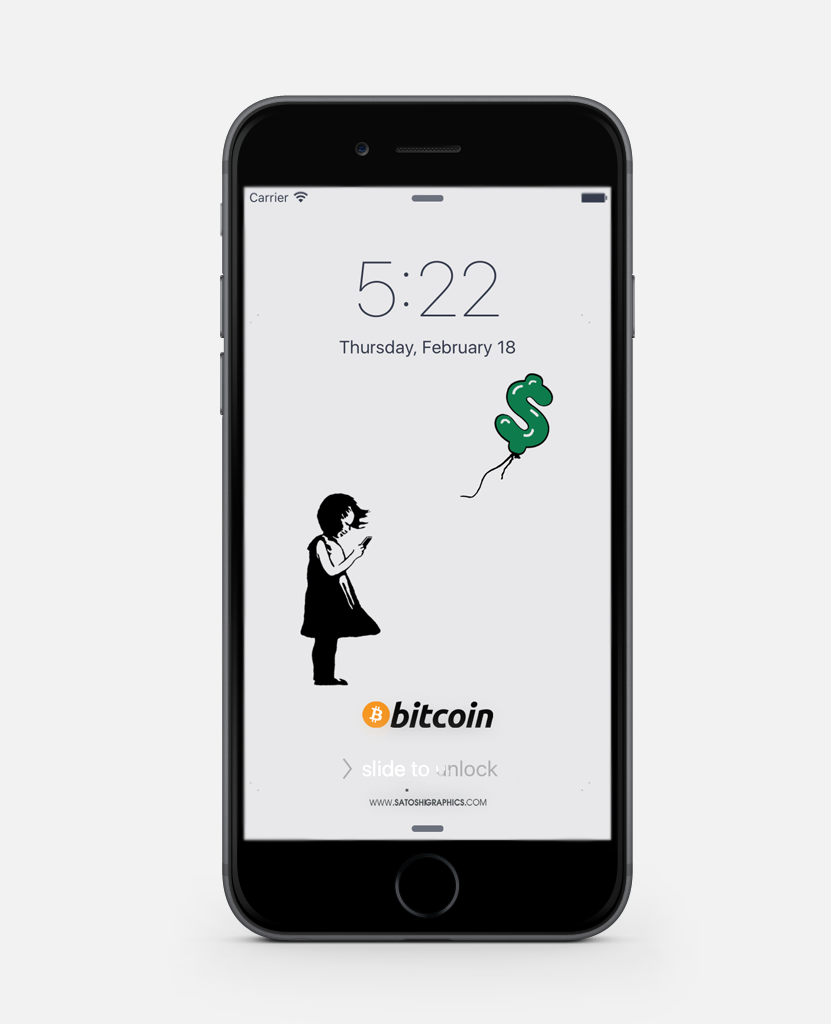 Bitcoin Wallpaper Android Girl checking Bitcoin price on wallet