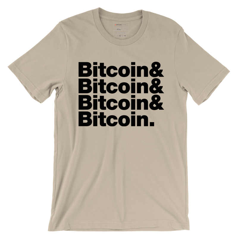 bitcoin maximalist T-shirt cream