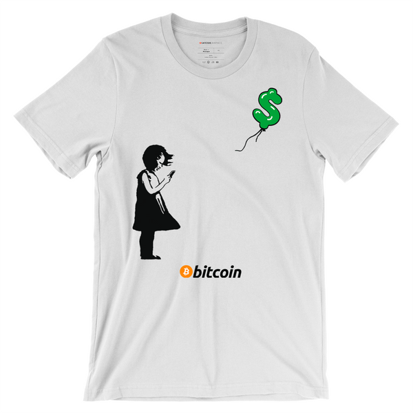 Girl With Bitcoin - Bitcoin T-Shirt