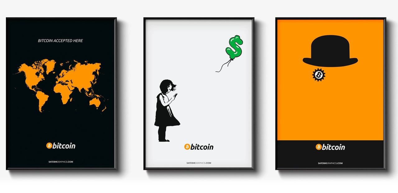 Bitcoin Art - Satoshi Graphics: Bitcoin Accepted