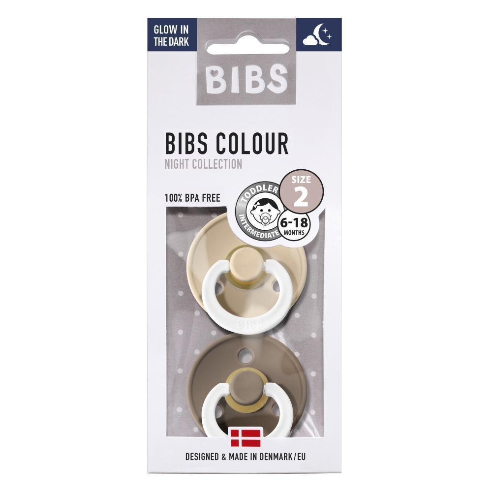 Image of Bibs 2pack sutter - Dark Oak/Vanilla Night - Str. 2 (6-18 mdr.) (shopify_DK_4547213885527_32473607798871)