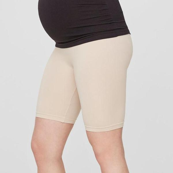 Image of Mamalicious korte leggings/shorts til gravide - Nude - L/XL (shopify_DK_1960985985111_19588972806231)