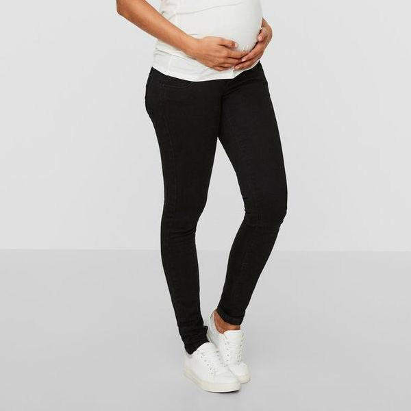 Mamalicious slim fit ventejeans - Sort