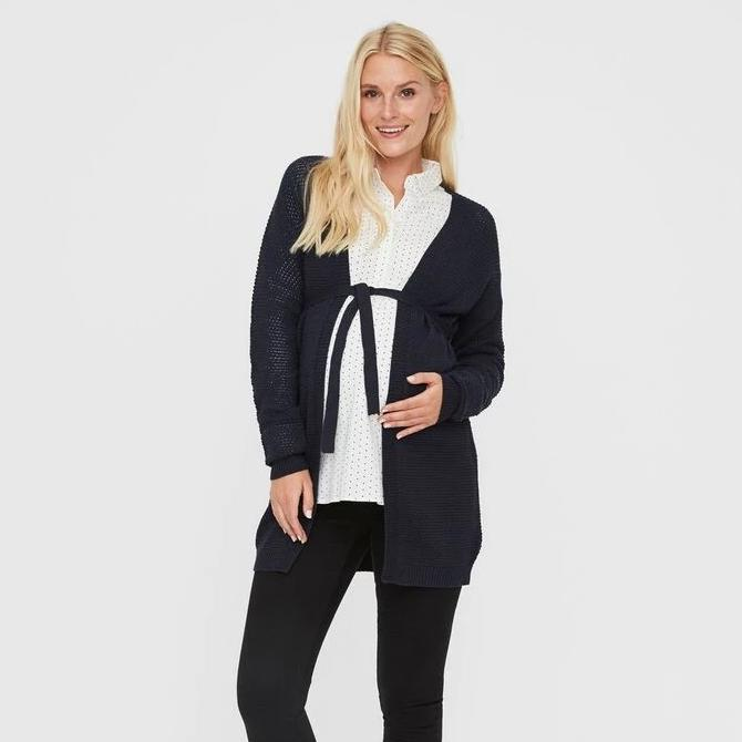 Image of   Mamalicious Awareness cardigan i strik - Navy - L