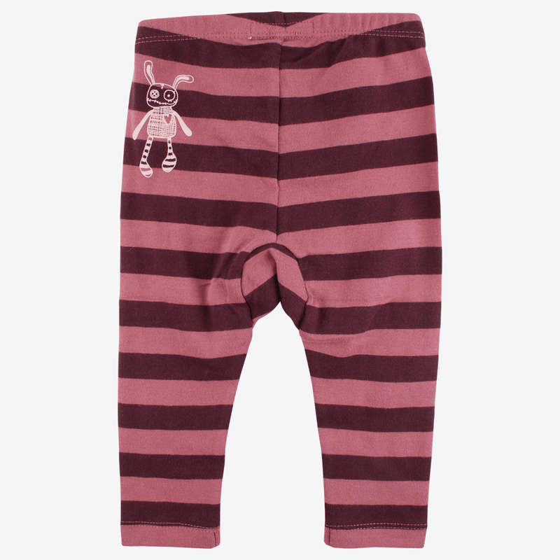 Leggings - Small Rags leggings - Rosa med striber - MamaMilla