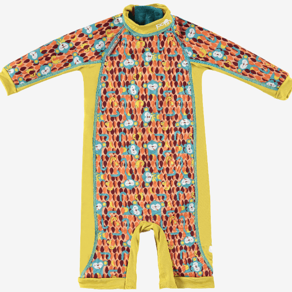 Close let foret svømmedragt - Pop in Snug Swimsuit - Monkey - Ticky & Bert