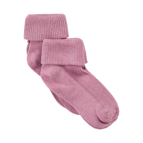Image of Minymo 2 pack sokker i rib - Dusty Orchid - 11-14 (shopify_DK_6562919874647_39308841844823)