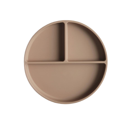 Image of Mushie - Silicone Suction Plate - Natural (shopify_DK_6563515531351_39310112587863)
