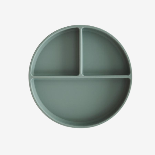 Image of Mushie - Silicone Suction Plate - Cambridge Blue (shopify_DK_4687903424599_32490382000215)